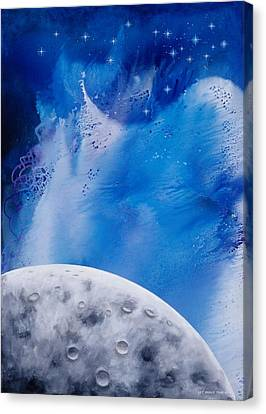 Transcendental Moon Canvas Print by Lee Pantas