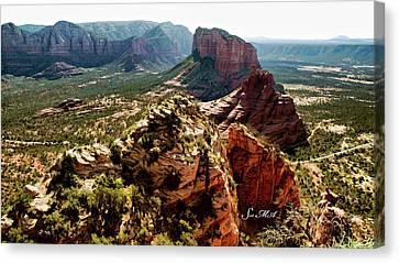 Transept Mountains 04-089 Canvas Print by Scott McAllister