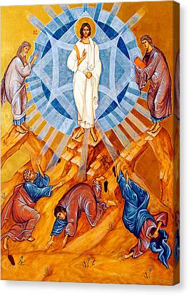 Transfiguration Of Christ Canvas Print by Munir Alawi