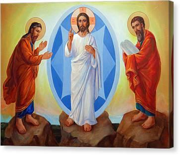 Transfiguration Of Jesus Canvas Print by Svitozar Nenyuk
