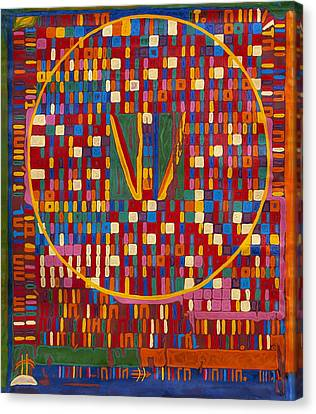 Transformation Of The Black World Canvas Print by Babelis Vytautas