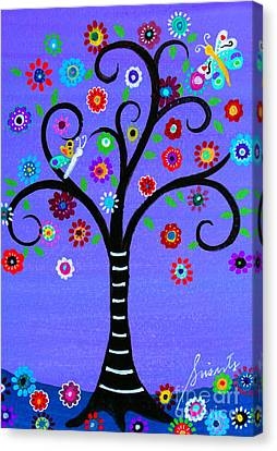 Canvas Print featuring the painting Transformation Tree Of Life by Pristine Cartera Turkus