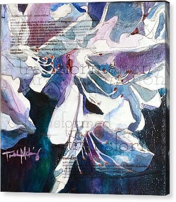 Transformation - White Azalea Canvas Print by Trish McKinney