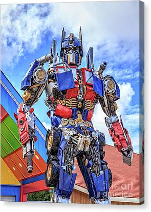 Transformers Optimus Prime Or Orion Pax Canvas Print by Edward Fielding