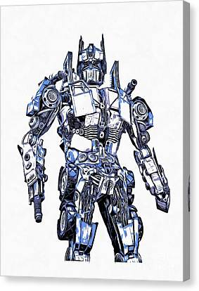 Transformers Optimus Prime Or Orion Pax Graphic  Canvas Print by Edward Fielding