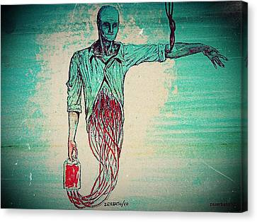 Transfusion Uninterrupted Canvas Print by Paulo Zerbato