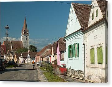Cristian Church Canvas Print - Transilvanian Idyll by Christian Hallweger