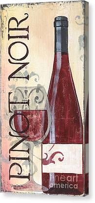 Wine Glasses Canvas Print - Transitional Wine Pinot Noir by Debbie DeWitt