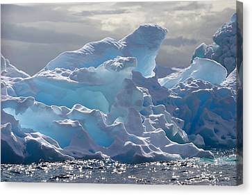 Ice Formations Canvas Print - Translucent Iceberg by Ira Meyer