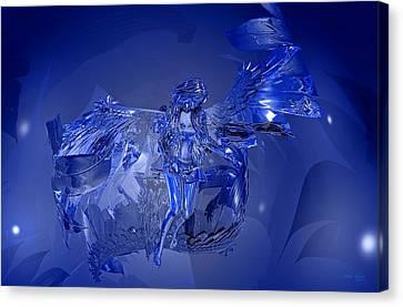 Transparent Blue Angel Canvas Print