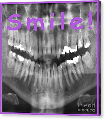 Transparent Panoramic Dental X-ray With A Smile Canvas Print by Ilan Rosen