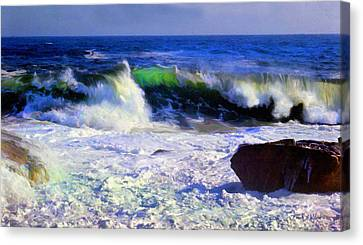 Transparent Wave Canvas Print by Frank Wilson