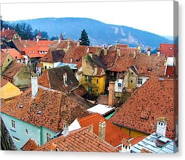 Transylvania Rooftops Canvas Print