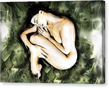 Traped Woman Canvas Print by Naikos N