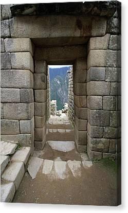Trapezoidal Door, Machu Picchu, Peru Canvas Print by Aidan Moran