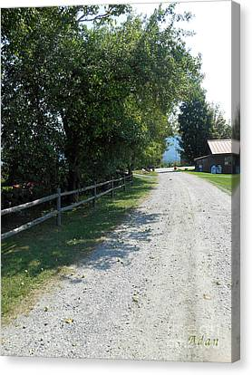 Trapp Family Lodge Rustic Road Canvas Print