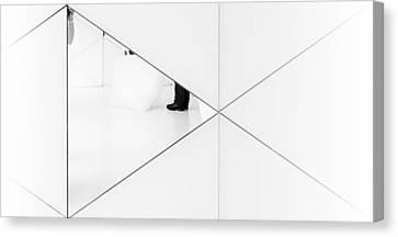 Trapped In A Mirror. Canvas Print by Greetje Van Son