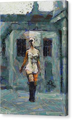 Trapped In A Painting Canvas Print by Esoterica Art Agency