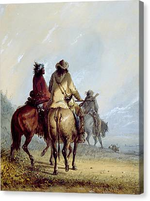 Trappers Starting For The Beaver Hunt Canvas Print