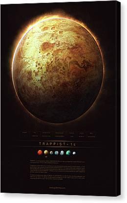 Universe Canvas Print - Trappist-1c by Guillem H Pongiluppi