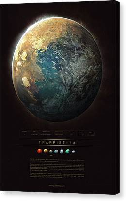 Discover Canvas Print - Trappist-1d by Guillem H Pongiluppi