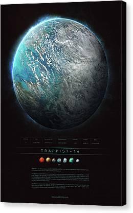 Universe Canvas Print - Trappist-1e by Guillem H Pongiluppi