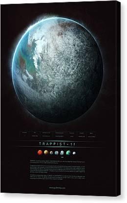Universe Canvas Print - Trappist-1f by Guillem H Pongiluppi
