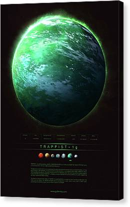 Discover Canvas Print - Trappist-1g by Guillem H Pongiluppi
