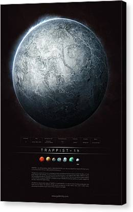 Discover Canvas Print - Trappist-1h by Guillem H Pongiluppi