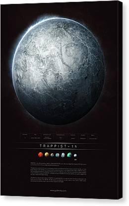 Universe Canvas Print - Trappist-1h by Guillem H Pongiluppi