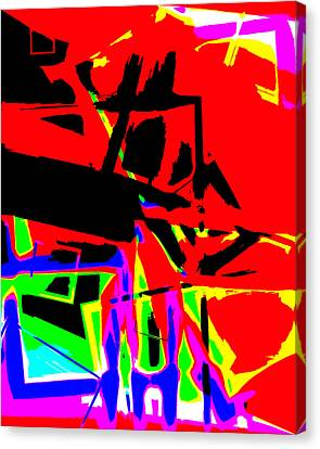 Canvas Print featuring the digital art Trator Crash by Lola Connelly