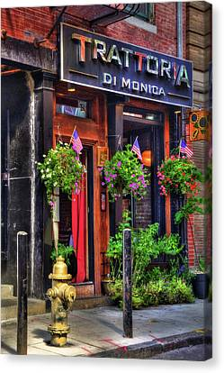 Trattoria Di Monica - North End - Boston Canvas Print