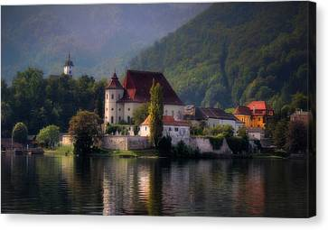 Canvas Print featuring the photograph Traunkirchen - Austria by Ellen Heaverlo