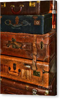 Steamer Truck Canvas Print - Travel - Old Bags by Paul Ward