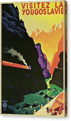 Visitez La Yougoslavie Canvas Print