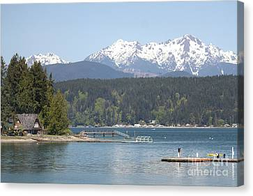 Traveler's Day At Alderbrook Canvas Print