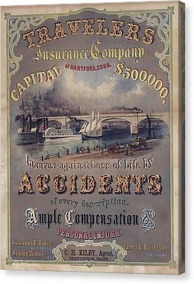 Travelers Insurance Company Advertising Canvas Print by Everett