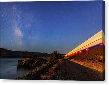Canvas Print featuring the photograph Traveling At The Speed Of Light by Cat Connor