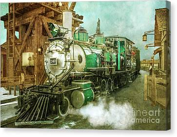 Traveling By Train Canvas Print by Claudia Ellis