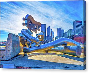 Traveling Man Chilin Canvas Print by Tod and Cynthia Grubbs
