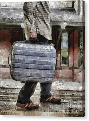 Traveling Man Canvas Print by Edward Fielding