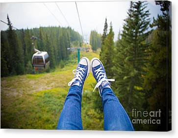 Traveling Shoes Canvas Print