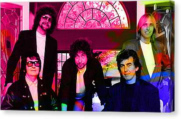 Roy Orbison Canvas Print - Traveling Wilburys by Marvin Blaine