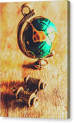 Travellers Globe Canvas Print by Jorgo Photography - Wall Art Gallery