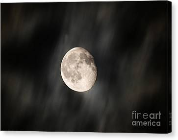 Travelling With Moon Canvas Print