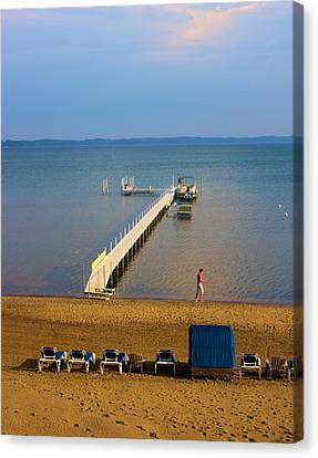 Traverse City East Bay Canvas Print by Don  Vella