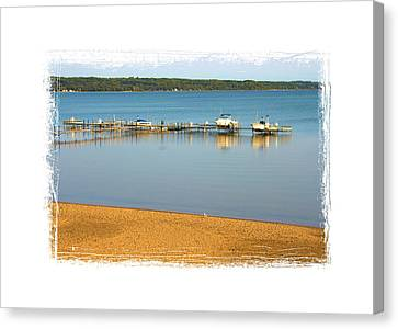 Traverse City East Bay II Canvas Print by Don  Vella