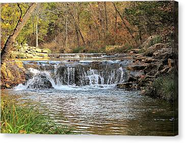Canvas Print featuring the photograph Travertine Creek Waterfall by Sheila Brown