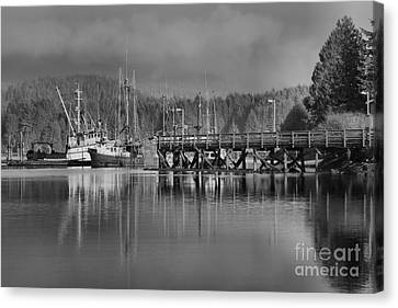 Trawlers In Ucluelet Harbor Canvas Print by Adam Jewell