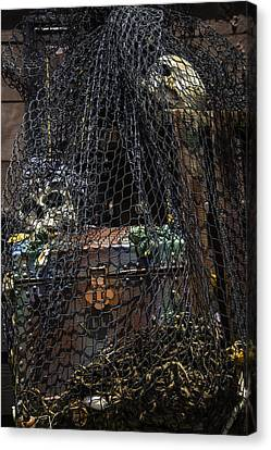 Treasure Chest In Net Canvas Print by Garry Gay